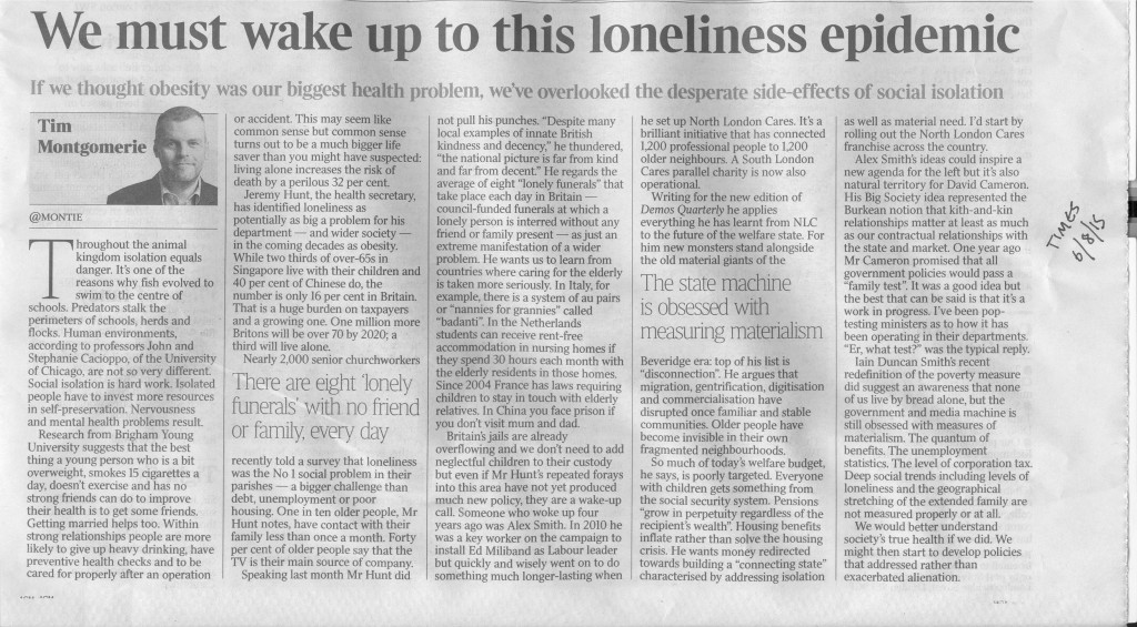 Times (06.08.15) Social Isolation Tim Montgomerie