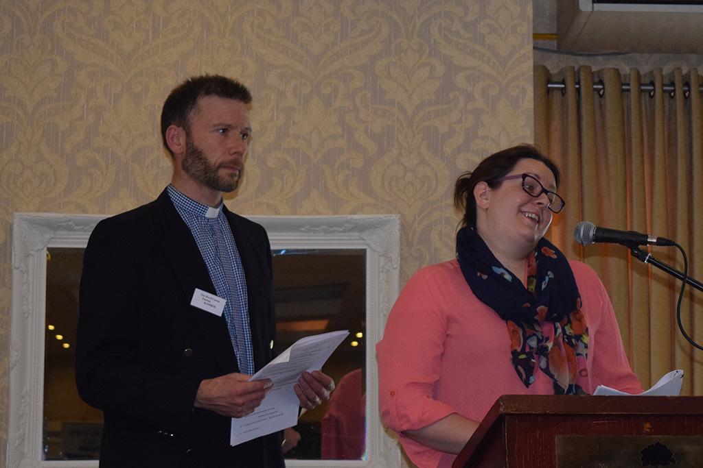 Revd Canon Patrick Bamber and Deborah Davitt