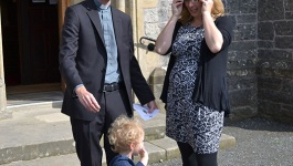 RevIanHorner_WithHisWifeJennyAndSonSam_BeforeOrdinationService_7th Sept 2014